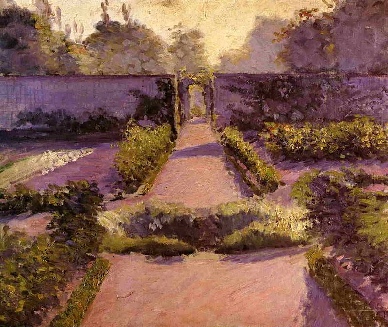 The Kitchen Garden, Yerres - 1877. Gustave Caillebotte