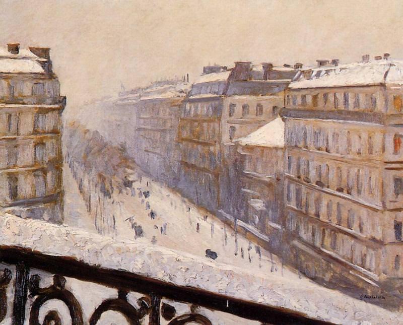 Boulevard Haussmann Snow. Gustave Caillebotte