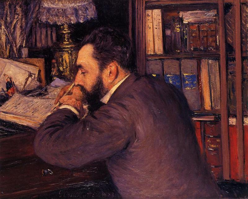 Portrait of Henri Cordier. Gustave Caillebotte