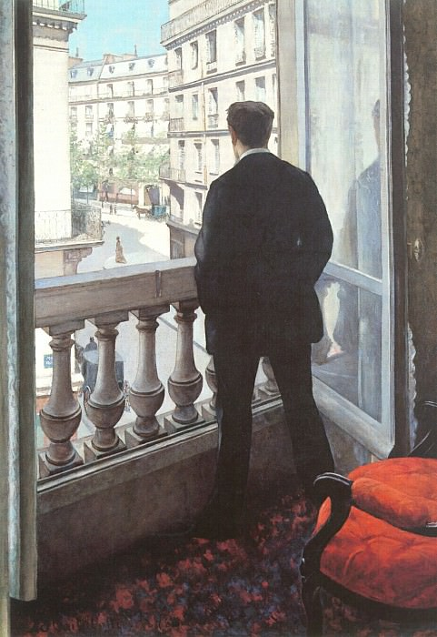 A Young Man at His Window - 1875. Gustave Caillebotte