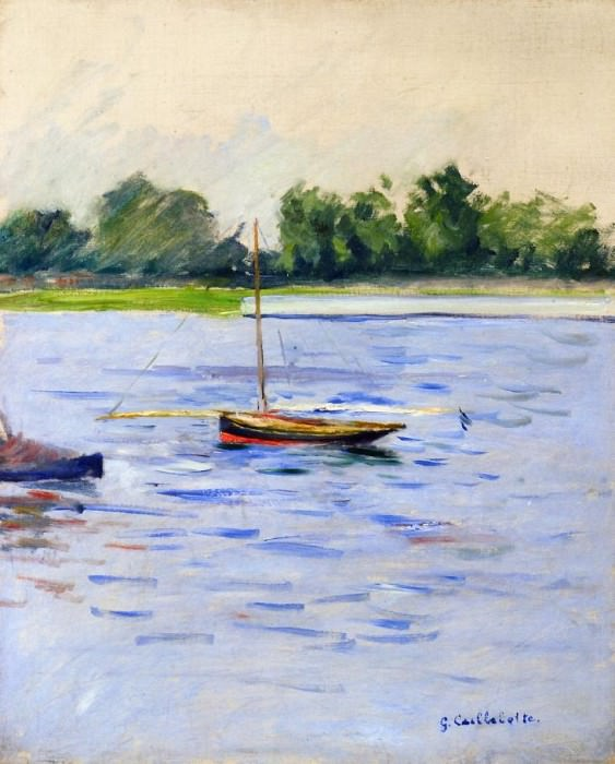 Sailing Boats on the Seine at Argenteuil - 1890 - 1891. Gustave Caillebotte