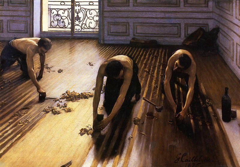 The Floor Scrapers (also known as The Floor Strippers) - 1875. Gustave Caillebotte