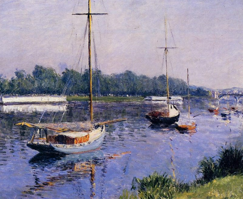 The Basin at Argenteuil - 1882. Gustave Caillebotte
