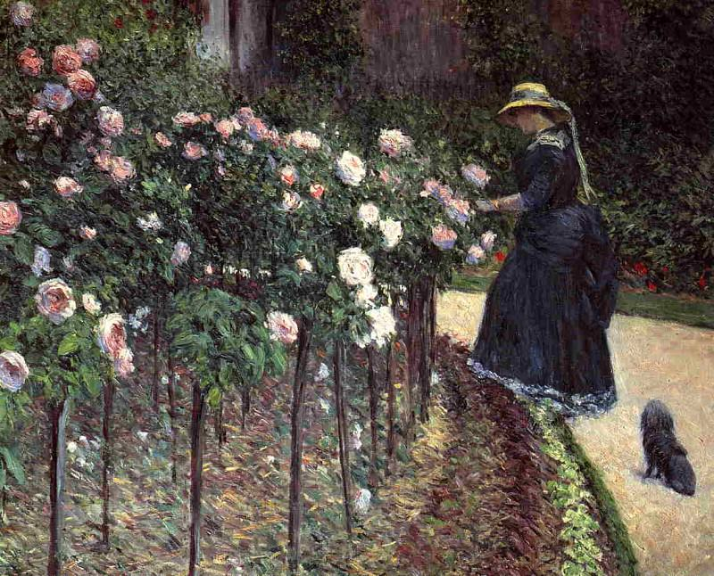 Roses, Garden at Petit Gennevilliers - 1886. Gustave Caillebotte