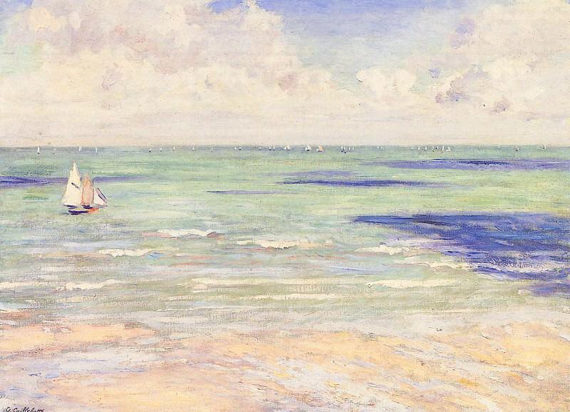 Seascape, Regatta at Villers. Gustave Caillebotte