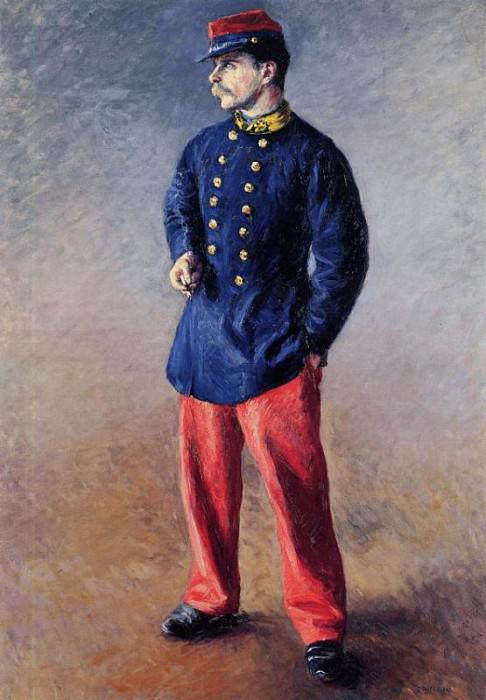 A Soldier - 1881. Gustave Caillebotte