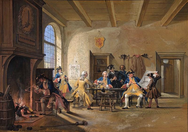 Cornelis Troost - Guardroom Scene. Metropolitan Museum: part 1