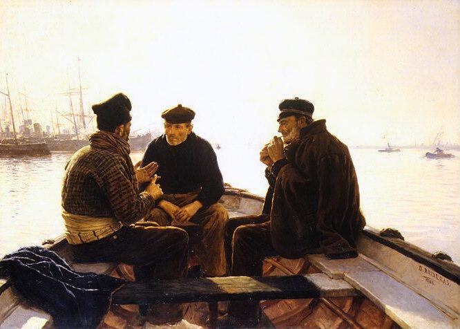 Dionisio Baixeras y Verdaguer - Boatmen of Barcelona. Metropolitan Museum: part 1