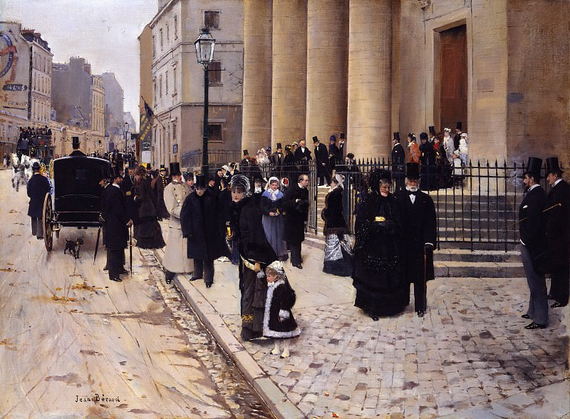Jean Béraud - The Church of Saint-Philippe-du-Roule, Paris. Metropolitan Museum: part 1