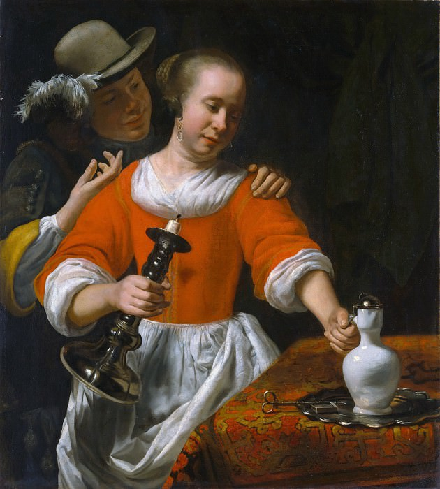 Cornelis Bisschop - A Young Woman and a Cavalier. Metropolitan Museum: part 1