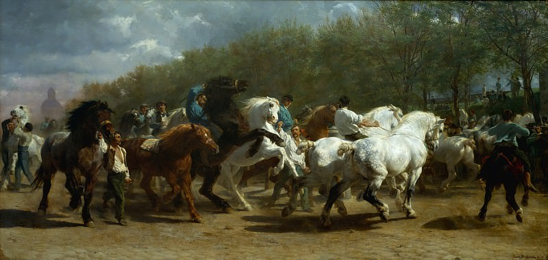 Rosa Bonheur - The Horse Fair. Metropolitan Museum: part 1