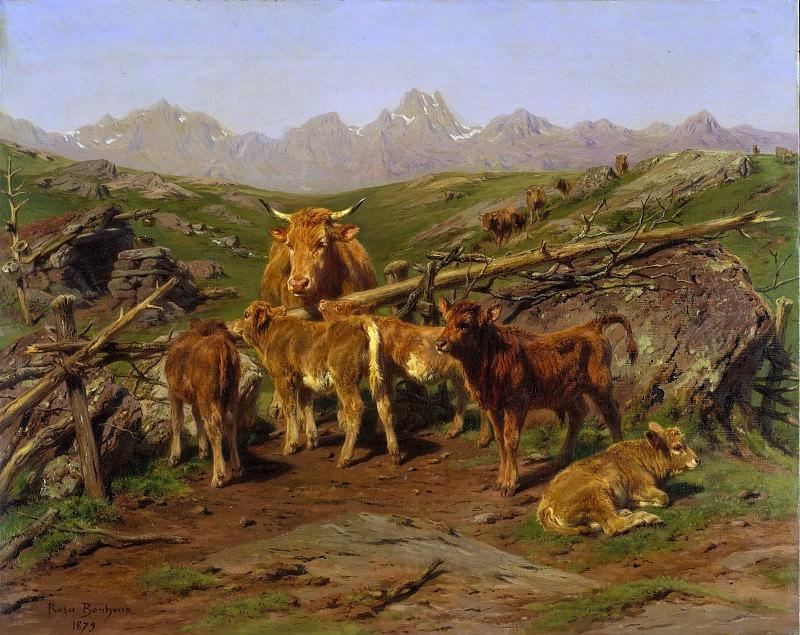 Rosa Bonheur - Weaning the Calves. Metropolitan Museum: part 1