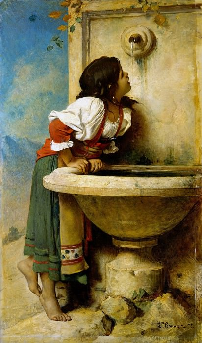 Léon Bonnat - Roman Girl at a Fountain. Metropolitan Museum: part 1