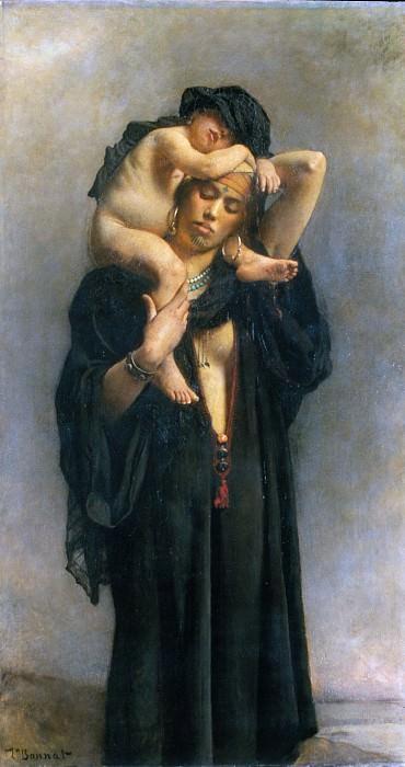 Léon Bonnat - An Egyptian Peasant Woman and Her Child. Metropolitan Museum: part 1