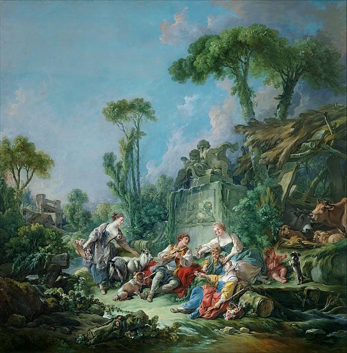 Shepherd's Idyll. Francois Boucher