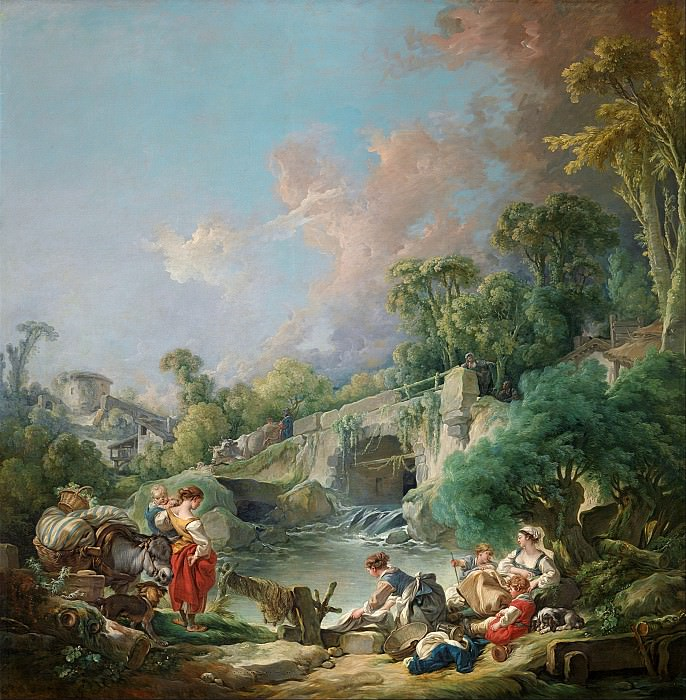 Washerwomen. Francois Boucher