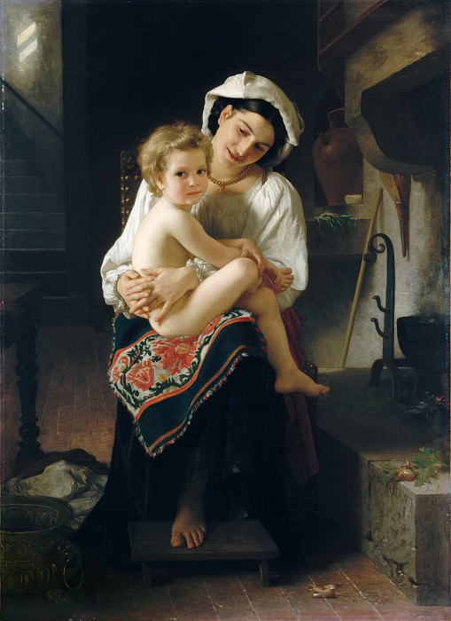 William Bouguereau - Young Mother Gazing at Her Child. Metropolitan Museum: part 1