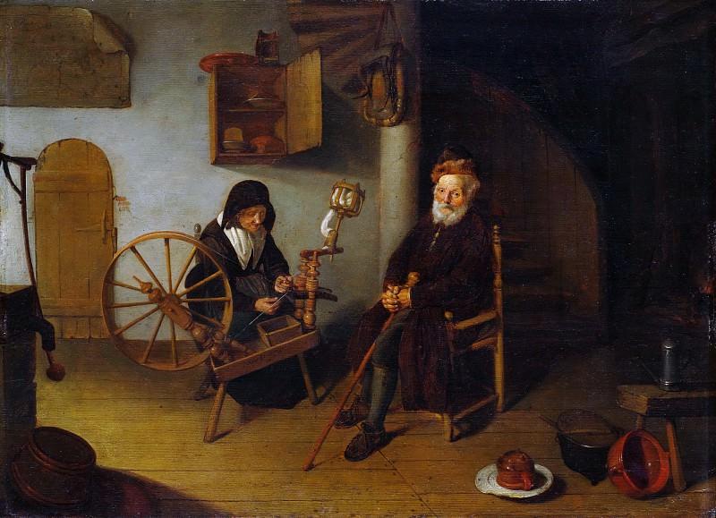 Quirijn van Brekelenkam , after 1622–ca. 1669 Leiden) - The Spinner. Metropolitan Museum: part 1
