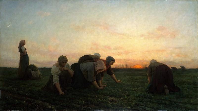 Jules Breton - The Weeders. Metropolitan Museum: part 1