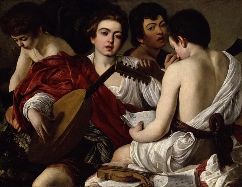 Caravaggio (Italian, Milan or Caravaggio 1571–1610 Porto Ercole) - The Musicians. Metropolitan Museum: part 1