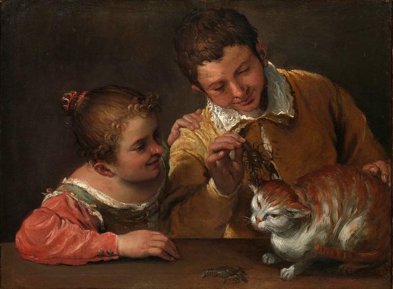 Annibale Carracci - Two Children Teasing a Cat. Metropolitan Museum: part 1