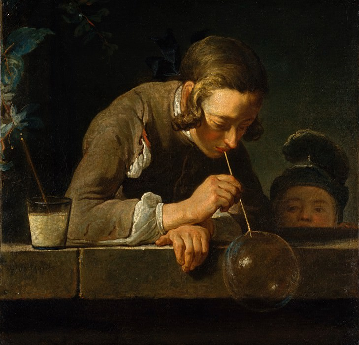 Жан Симеон Шарден - Мыльные пузыри. Музей Метрополитен: часть 1