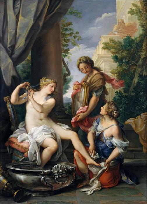 Giuseppe Bartolomeo Chiari - Bathsheba at Her Bath. Metropolitan Museum: part 1