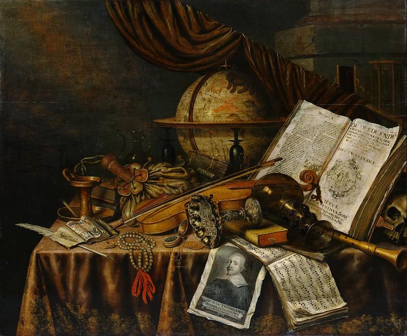Edwaert Collier - Vanitas Still Life. Metropolitan Museum: part 1