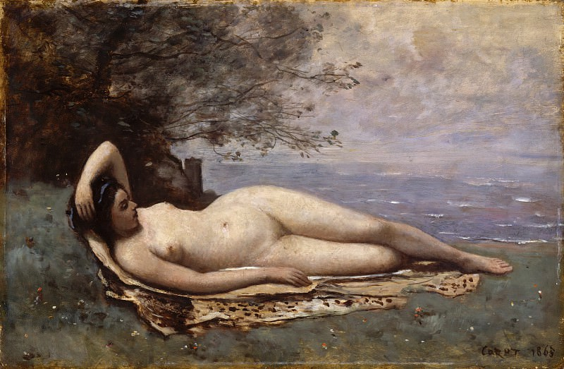 Camille Corot - Bacchante by the Sea. Metropolitan Museum: part 1