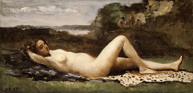 Camille Corot - Bacchante in a Landscape. Metropolitan Museum: part 1