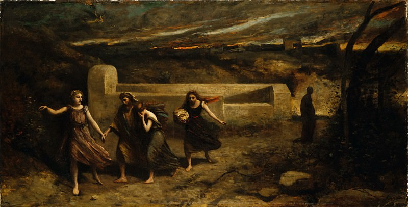 Camille Corot - The Burning of Sodom (formerly The Destruction of Sodom). Metropolitan Museum: part 1