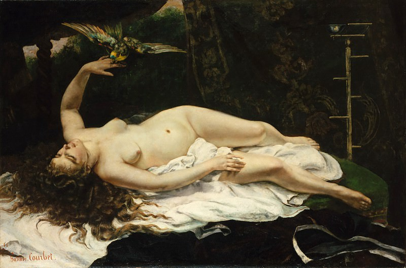 Gustave Courbet - Woman with a Parrot. Metropolitan Museum: part 1