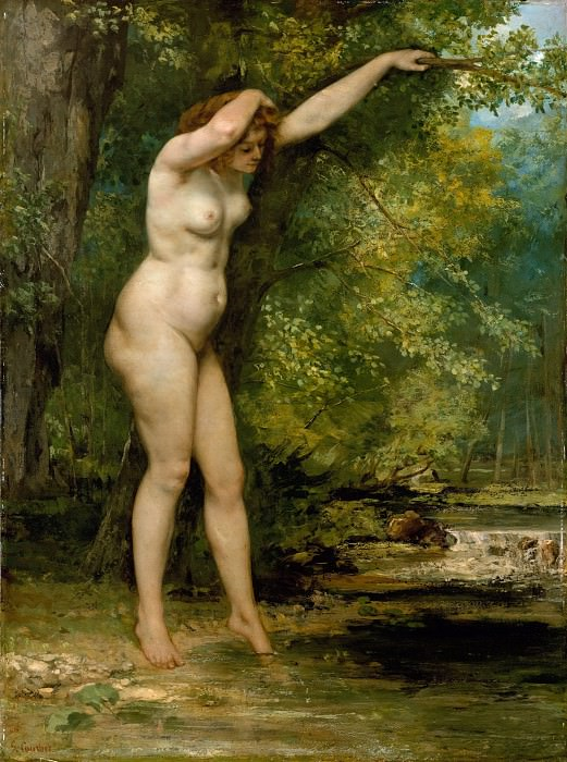 Gustave Courbet - The Young Bather. Metropolitan Museum: part 1