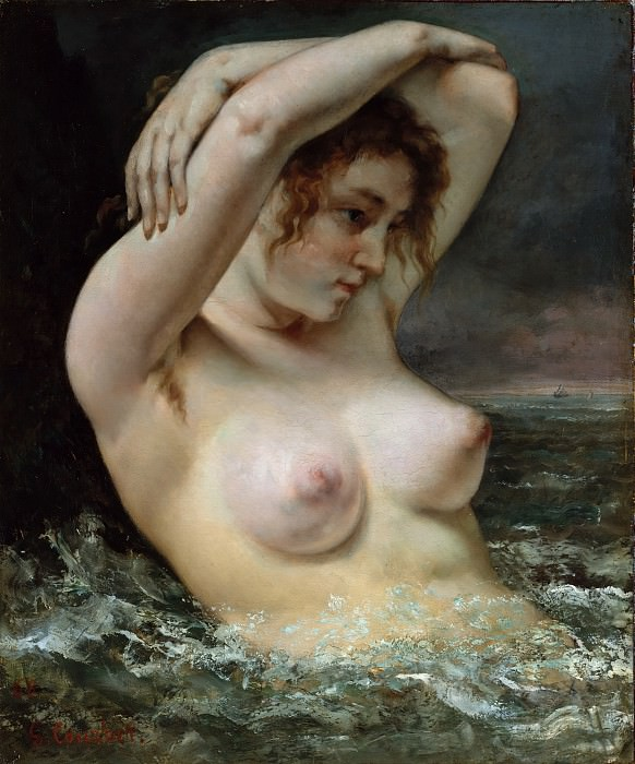 Gustave Courbet - The Woman in the Waves. Metropolitan Museum: part 1