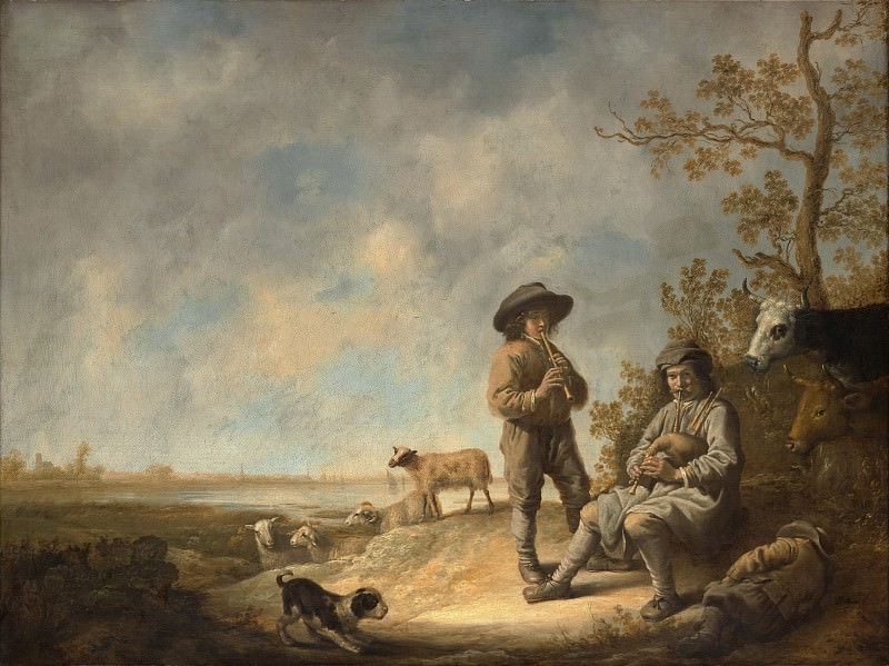 Aelbert Cuyp - Piping Shepherds. Metropolitan Museum: part 1