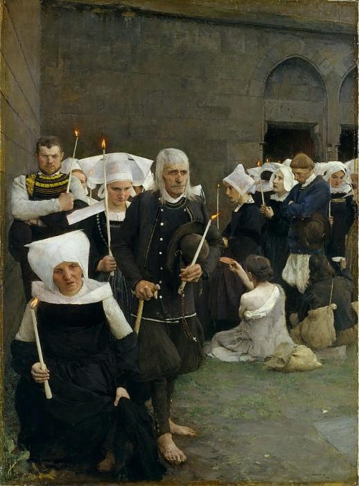 Pascal-Adolphe-Jean Dagnan-Bouveret - The Pardon in Brittany. Metropolitan Museum: part 1