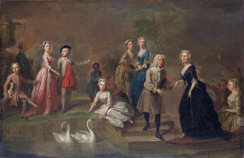 Bartholomew Dandridge - Uvedale Tomkyns Price (1685–1764) and Members of His Family. Metropolitan Museum: part 1