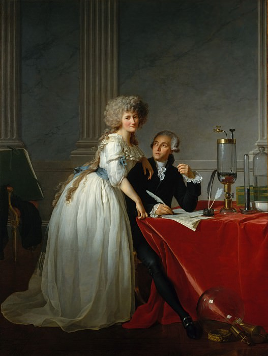 Jacques-Louis David - Antoine-Laurent Lavoisier (1743–1794) and His Wife (Marie-Anne-Pierrette Paulze, 1758–1836). Metropolitan Museum: part 1