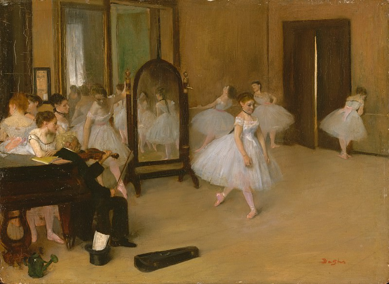 Edgar Degas - The Dancing Class. Metropolitan Museum: part 1