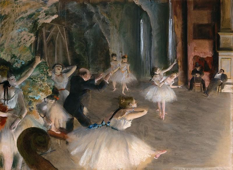 Edgar Degas - The Rehearsal Onstage. Metropolitan Museum: part 1