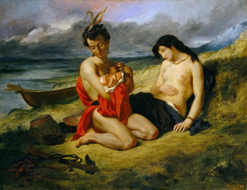 Eugène Delacroix - The Natchez. Metropolitan Museum: part 1