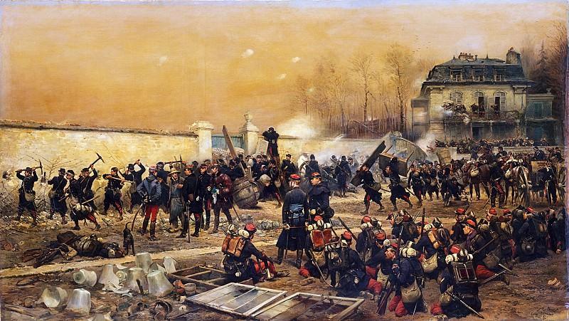 Édouard Detaille - The Defense of Champigny. Metropolitan Museum: part 1