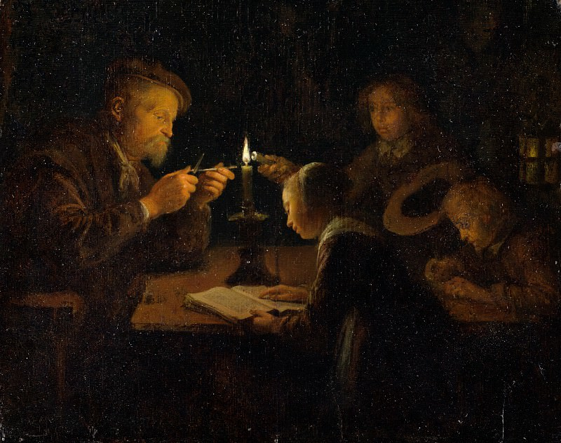Gerrit Dou - An Evening School. Metropolitan Museum: part 1