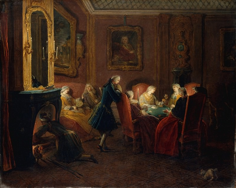Pierre Louis Dumesnil the Younger - Card Players in a Drawing Room. Metropolitan Museum: part 1