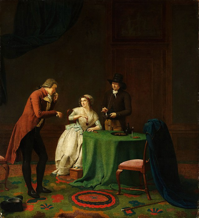 Jan Ekels the Younger - Conversation Piece (The Sense of Smell). Metropolitan Museum: part 1