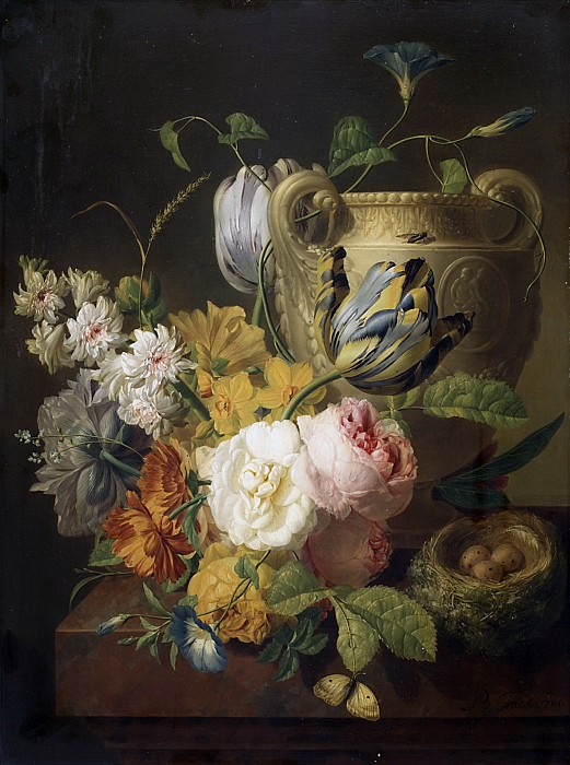 Peter Faes - Flowers by a Stone Vase. Metropolitan Museum: part 1