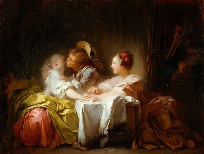 Jean Honoré Fragonard - The Stolen Kiss. Metropolitan Museum: part 1