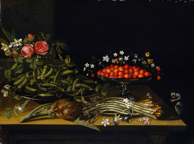 French Painter, 17th century - Still Life with Strawberries. Metropolitan Museum: part 1