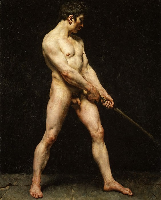 French Painter, about 1816 - Study of a Nude Man. Metropolitan Museum: part 1