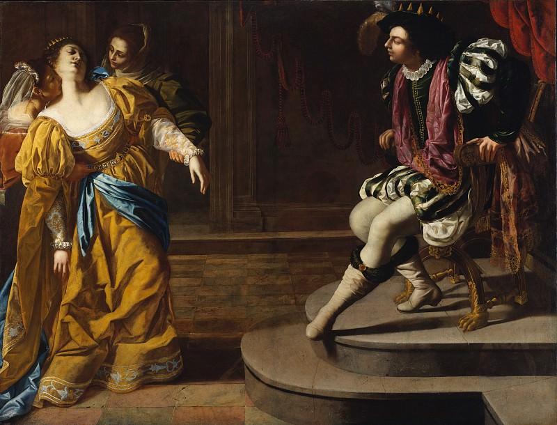 Artemisia Gentileschi - Esther before Ahasuerus. Metropolitan Museum: part 1